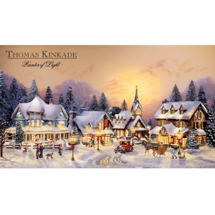 Thomas Kinkade Christmas.Thomas Kinkade S Village Christmas Collection