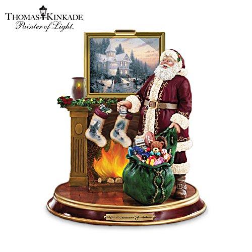 Op de kerstschoorsteenmantel – Santa-sculptuur