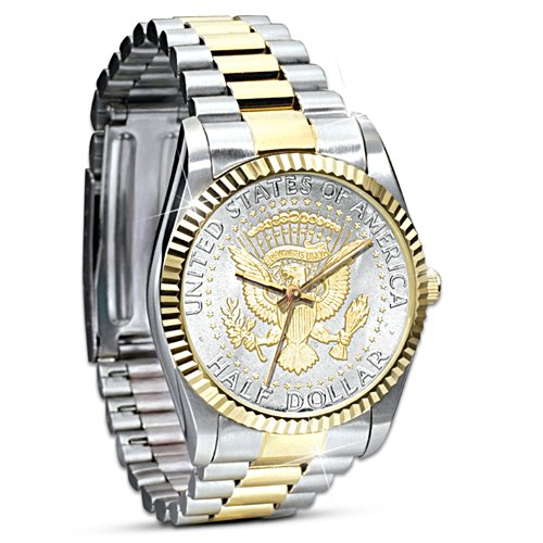 Official JFK Half Dollar Presidential Watch For Men