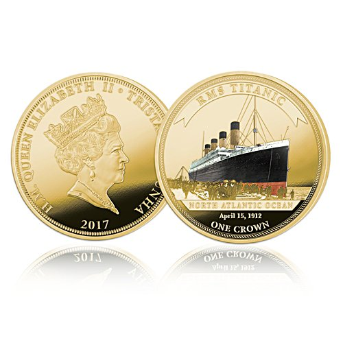 RMS Titanic Legendary Shipwreck Gold Crown Coin