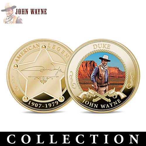 John Wayne Tribute Proof Coin Collection With Display Box