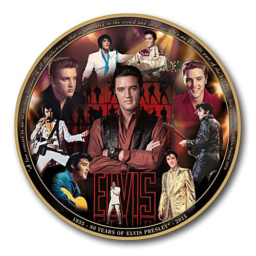 Elvis Presley 80 år Minnestallrik