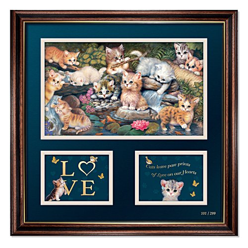 'Pawprints On Your Heart' Jürgen Scholz Limited Edition Wall Print