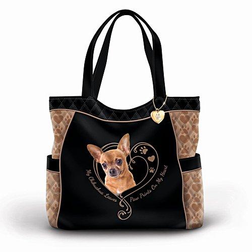 Pfotenspuren berühren mein Herz – Chihuahua-Tasche