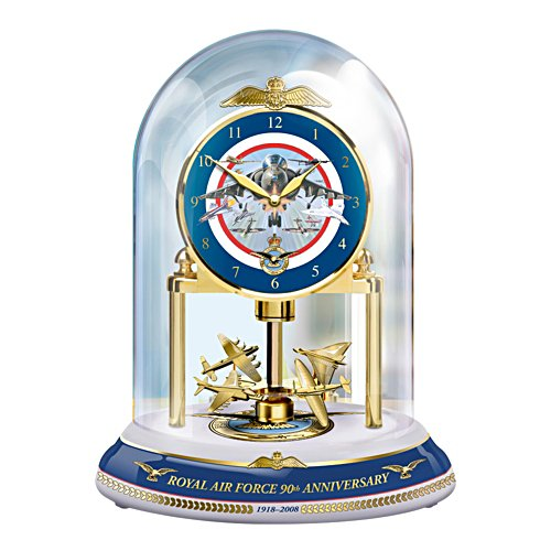 90th Anniversary RAF Wings of Valour Dome Clock