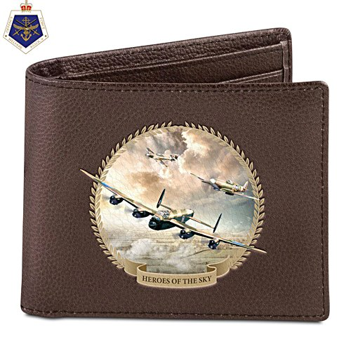 'Heroes Of The Skies' Men's Leather Wallet
