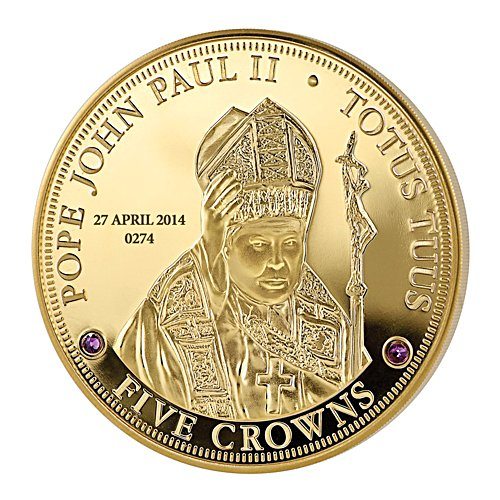 'The Pope John Paul II Canonisation' Five Crown Coin