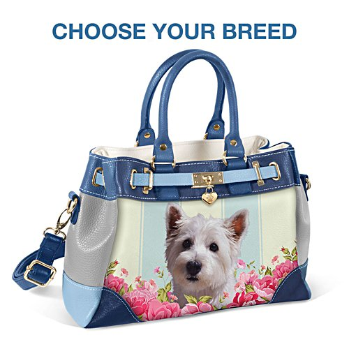 """Playful Pup"" Handbags With Pawprint Charm"
