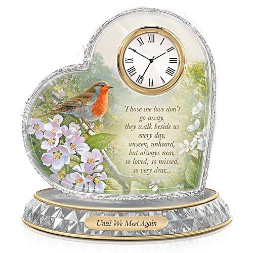 'A Love So Dear' Robin Heart Clock