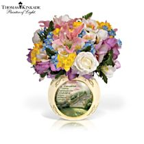 "Thomas Kinkade ""Bouquet Of Memories"" Remembrance Centrepiece"