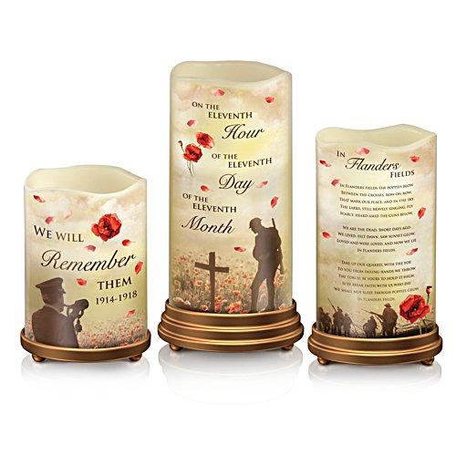 'Lest We Forget' First World War Armistice Centenary LED Flameless Candles