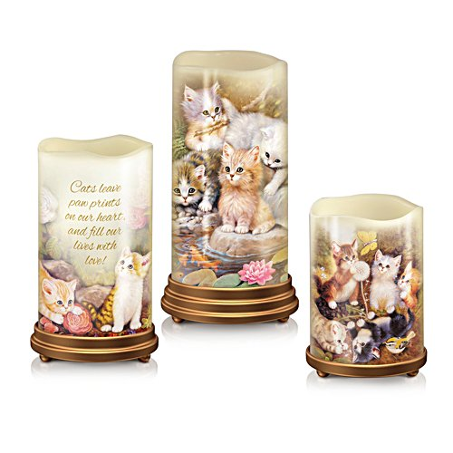 Jürgen Scholz 'Paw Prints On Your Heart' Flameless Candle Set