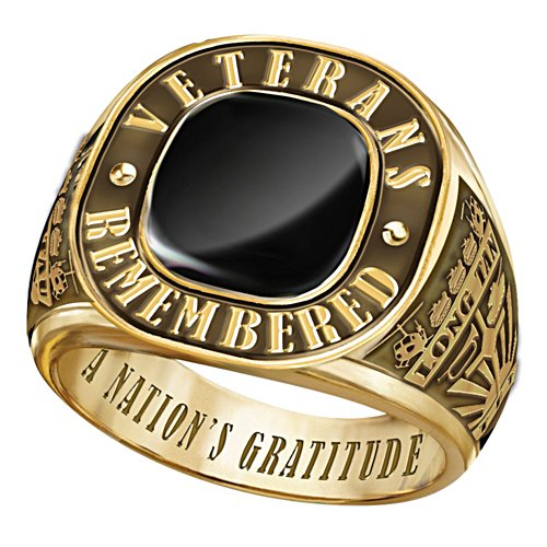 Veterans Remembered Men's Gold Ring