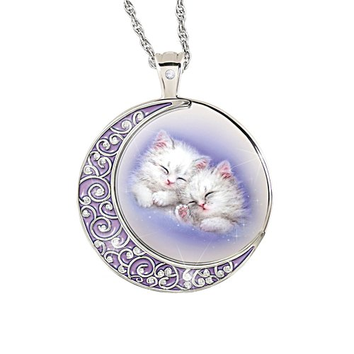'Kitten Moon' Ladies' Diamond Pendant