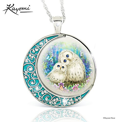 'Owl Always Love You' Glow-In-The-Dark Diamond Ladies' Pendant