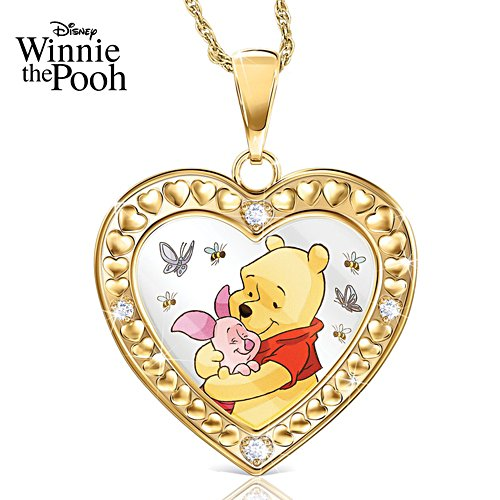 Disney Winnie The Pooh 'Big Hearts Deserve Big Hugs' Ladies' Pendant
