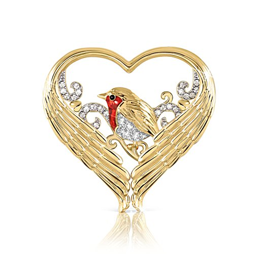 'Messenger Of Love' Crystal Brooch