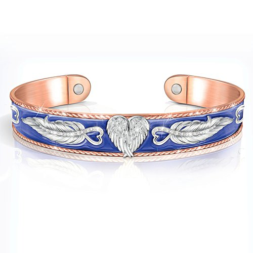 'Guardian Angel Embrace' Copper Touch Bracelet