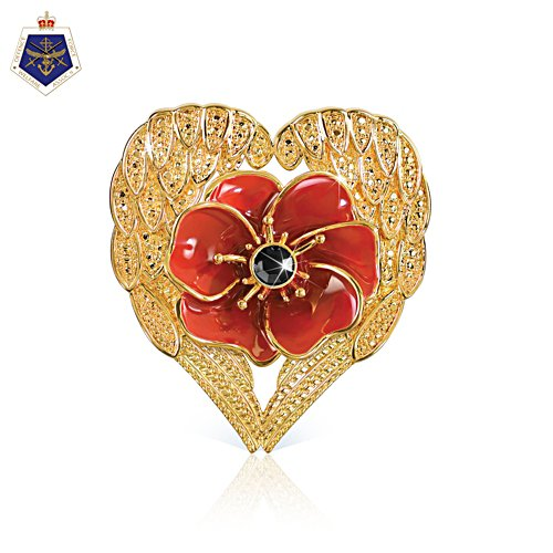Lest We Forget 'Loving Embrace' Poppy Brooch