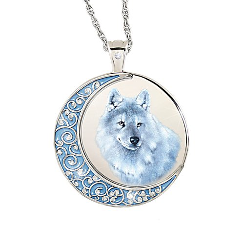 'Spirit Of The Wilderness' Wolf Ladies' Diamond Pendant