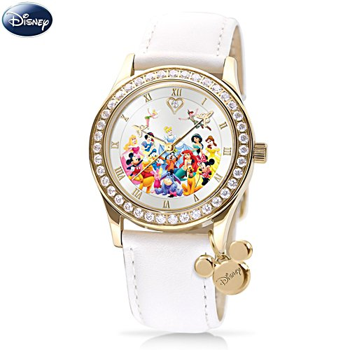 'Ultimate Disney' Watch With Leather Strap