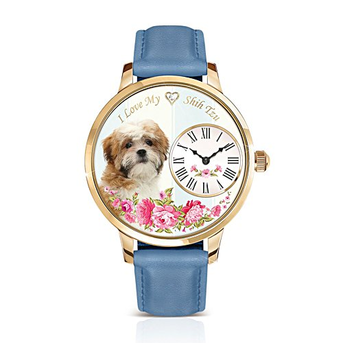 Shih Tzu 'Playful Pup' Ladies' Watch