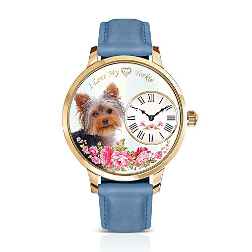 Yorkie 'Playful Pup' Ladies' Watch