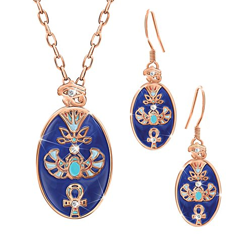 'Treasures Of Egypt' Copper Healing Touch Pendant & Earring Set