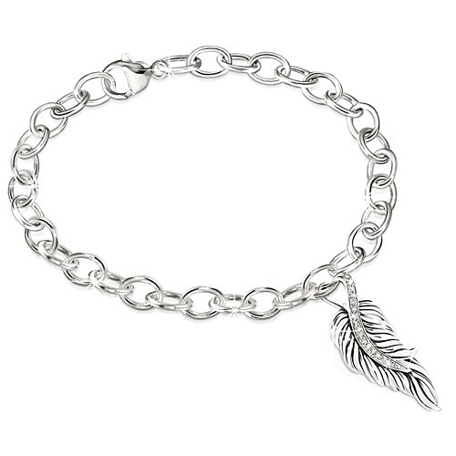 'When Angels Are Near' Diamond Bracelet
