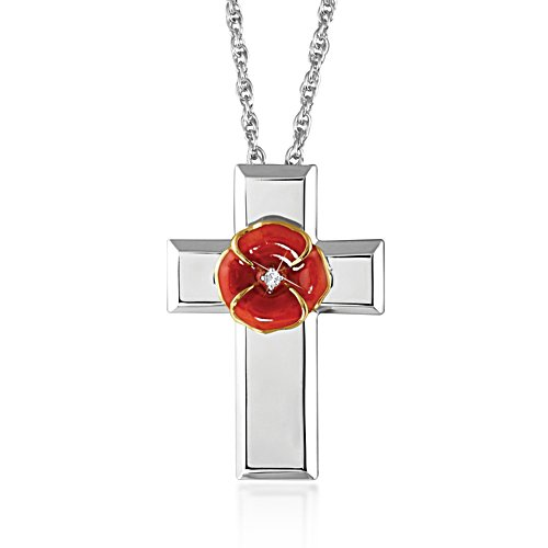 'In Flanders Fields' Poppy Pendant