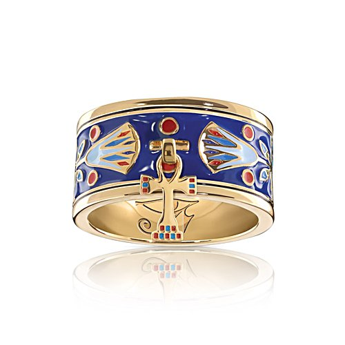 'Majesty Of Egypt' Enamel Charm Ring