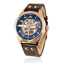'Dambusters' Lancaster Aircraft Rose Gold-Plated Mechanical Watch