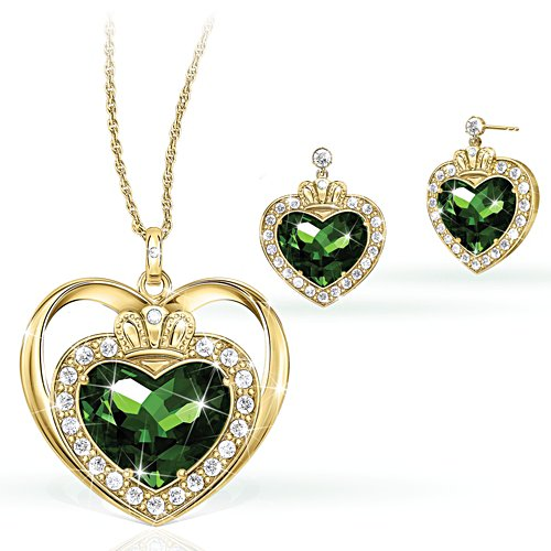 'Blessings Of Ireland' Diamonesk® Necklace & Earring Set