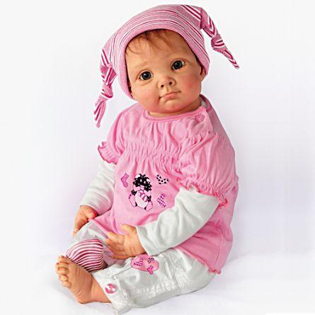 Julia und das Sockenmonster – Realistische Baby Puppe