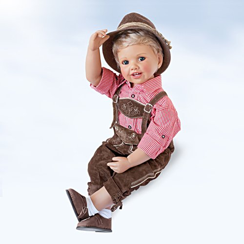 Monika Peter-Leicht Toddler Doll Luis in Traditional Outfit