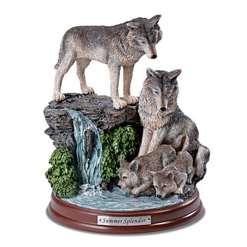 Sommerpracht – Wolfsskulptur