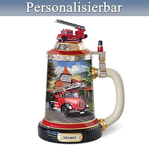 Der Rundhauber – Feuerwehr-Bierkrug mit Namensgravur