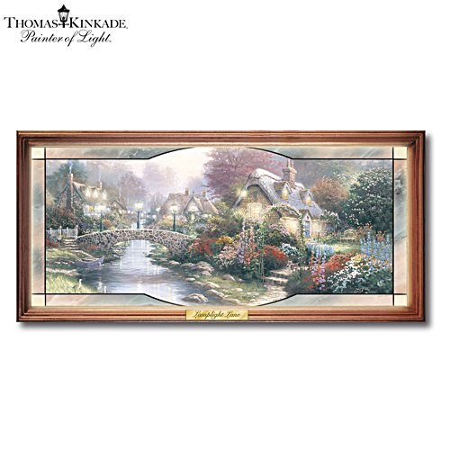 Thomas Kinkade 'Garden Of Light' Stained-Glass Panorama