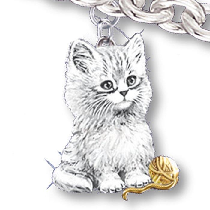 Jürgen Scholz 'Purr-fect Companion' Cat Charm Bracelet