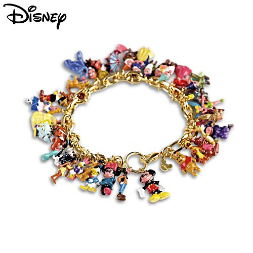 The Ultimate Disney Classic 37 Character Charm Bracelet