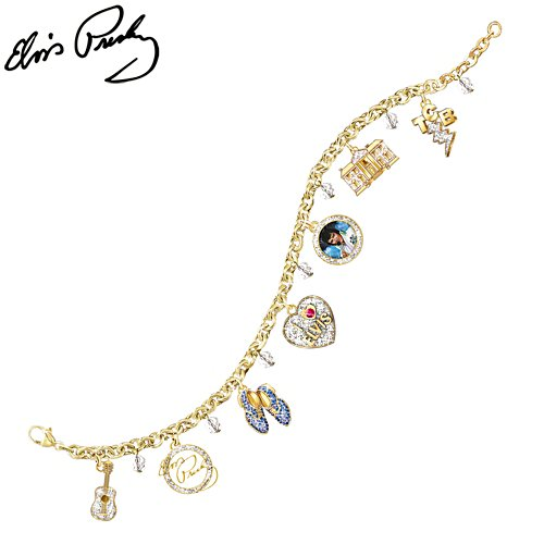 Elvis™ 'Showstopper' Swarovski® Crystal Charm Bracelet