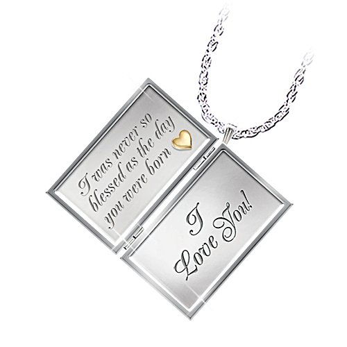 'Dear Daughter Letter Of Love' Diamond Locket