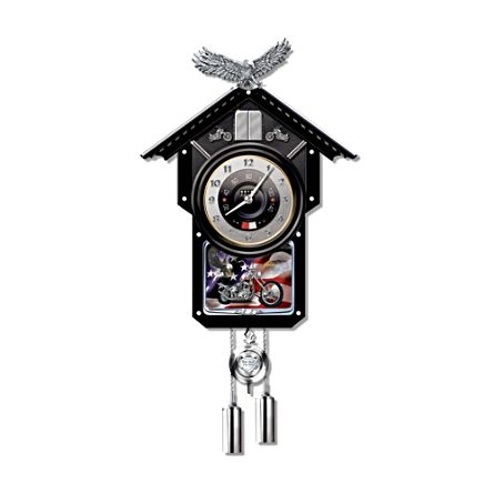 'Time Of Freedom' Motorcycle Cuckoo Clock