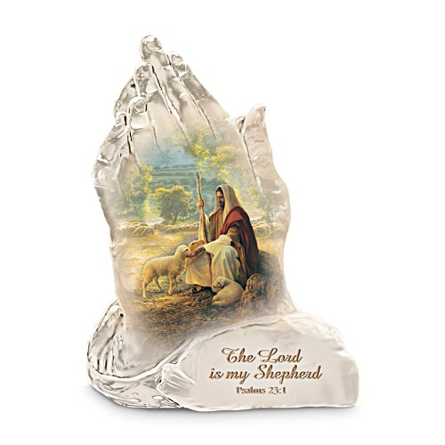 'My Lord Is My Shepherd' Greg Olsen Faith Prayer Figurine
