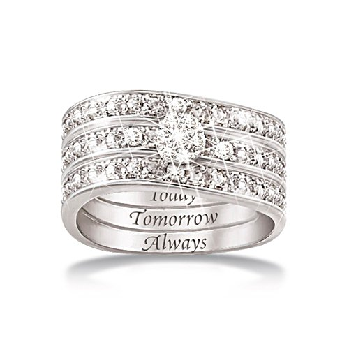 'Hidden Message Of Love' Diamond Ring