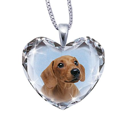'Close To My Heart' Dachshund Dog Pendant