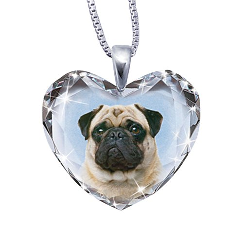 'Close To My Heart' Pug Dog Pendant