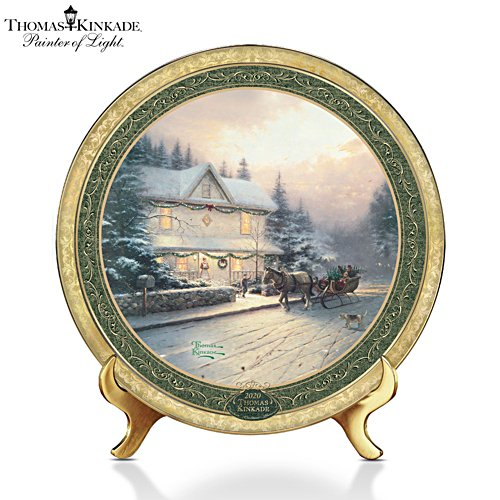 Thomas Kinkade's 'Cherished Christmas Memories' Annual Plate