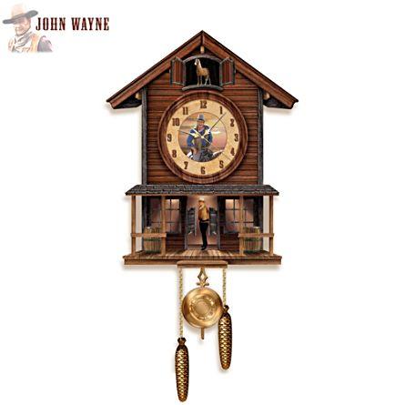 Illuminated 3D John Wayne Cuckoo Clock