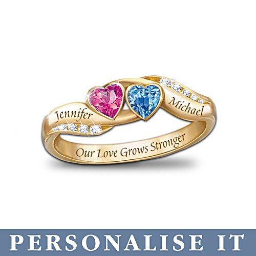 'Love's Journey' Personalised Birthstone Ladies' Ring
